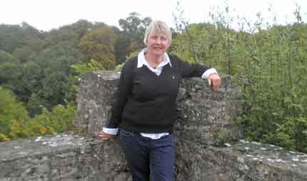 Judith at the old Roche Castle