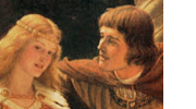 Tristan and Isolde from old Irish story