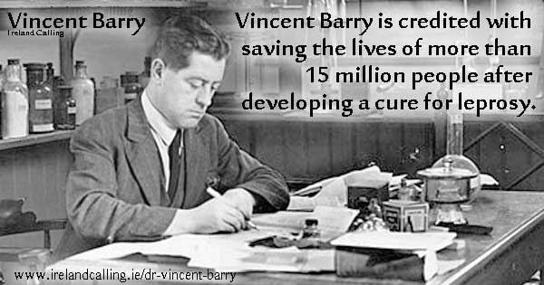 Irish scientist Vincent Barry cure for leprosy Image Ireland Calling