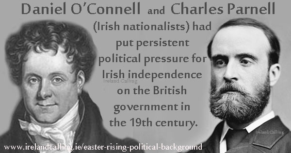 Daniel O'Connell and Charles Parnell. Image copyright Ireland Calling