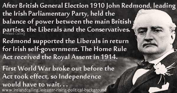 John Redmond and the Easter Rising. Image copyright Ireland Calling