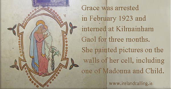 Grace Gifford's cell Madonna and Child painting