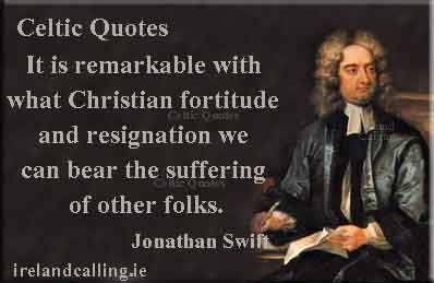 Jonathan Swift quote. Don't set your wit against a child. Image copyright Ireland Calling