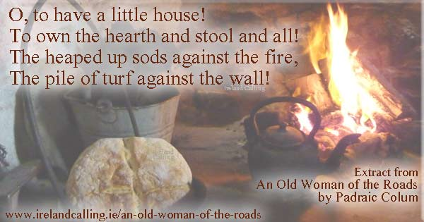 Old Woman of the Roads by Padraic Colum. Image Copyright - Ireland Calling