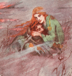 Deirdre - illustration from A Book of Myths