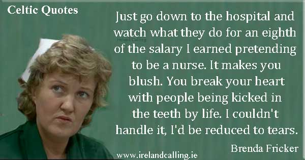 Brenda Fricker quote. Image copyright Ireland Calling