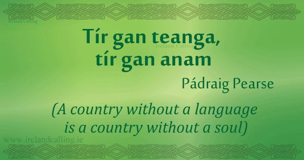 Patrick-Pearse quote Image copyright Ireland Calling