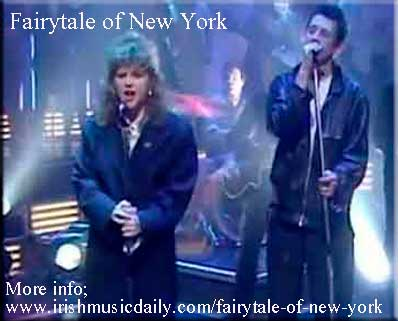 Shane MacGowan and Kirsty McColl singing Fairytale of New York