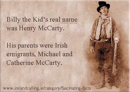 Billy_the_Kid's parents were Irish
