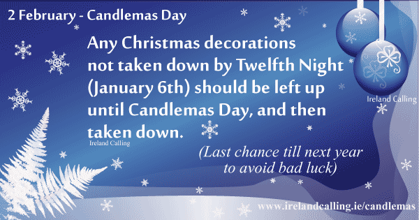 Candlemas decorations. Image copyright Ireland Calling