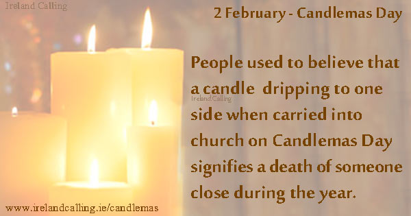 Candlemas candles. Image copyright Ireland Calling