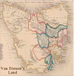 Thomas Meagher escaped from Van Diemen's Land 1852