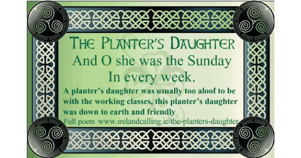Planters-Daughter by Austin Clarke Image copyright Ireland Calling