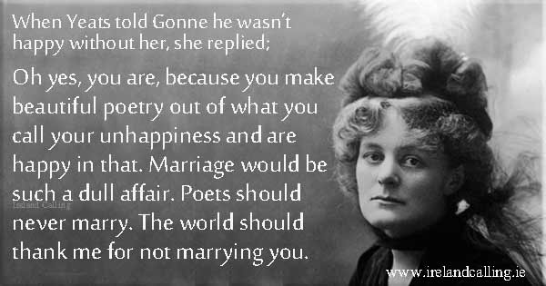 WB Yeats and Maud Gonne love story. Image copyright Ireland Calling
