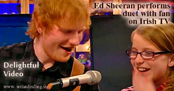 Ed Sheeran sings along with startled fan on the Toy Show